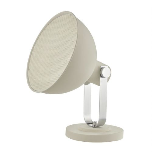 Rutger Floor Lamp White Polished Chrome